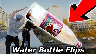 Top 5 LUCKIEST Youtuber Water Bottle Flip Trickshots (Flips) Tanner Braungardt