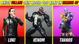 10 FORTNITE Season 4 *SUPER VILLAINS* Skins We All Want | Chaos