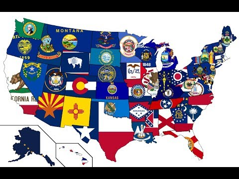 ALL 50 U.S. STATES! State Flags, Names, And Geography, LEARN AMERICAN GEOGRAPHY