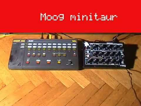 Siel MDP-40 drum machine with Moog Minitaur and DS TETRA