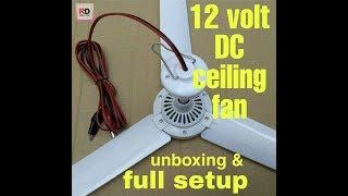 12 volt dc ceiling fan