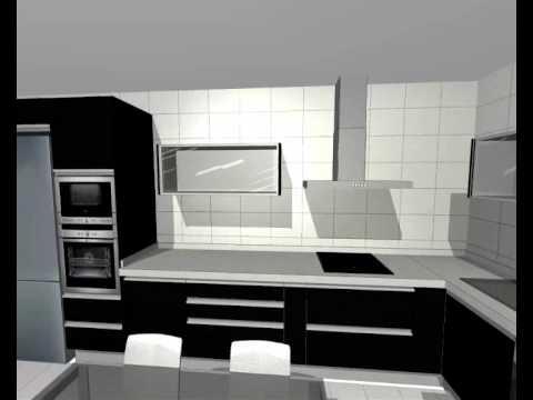 Proyecto de cocina mod quatro guarpi muebles youtube for Proyecto muebles de cocina