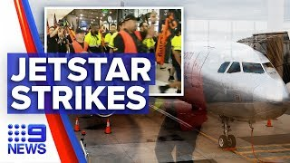 Flights Cancelled As Jetstar Workers Strike | Nine News Australia