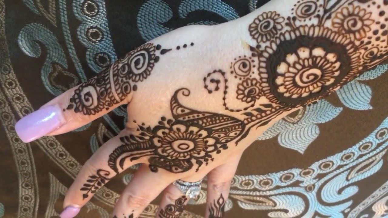 Mehndi Tattoo Half Sleeve : Henna tattoo mehndi hand half sleeve part 7 2017 youtube