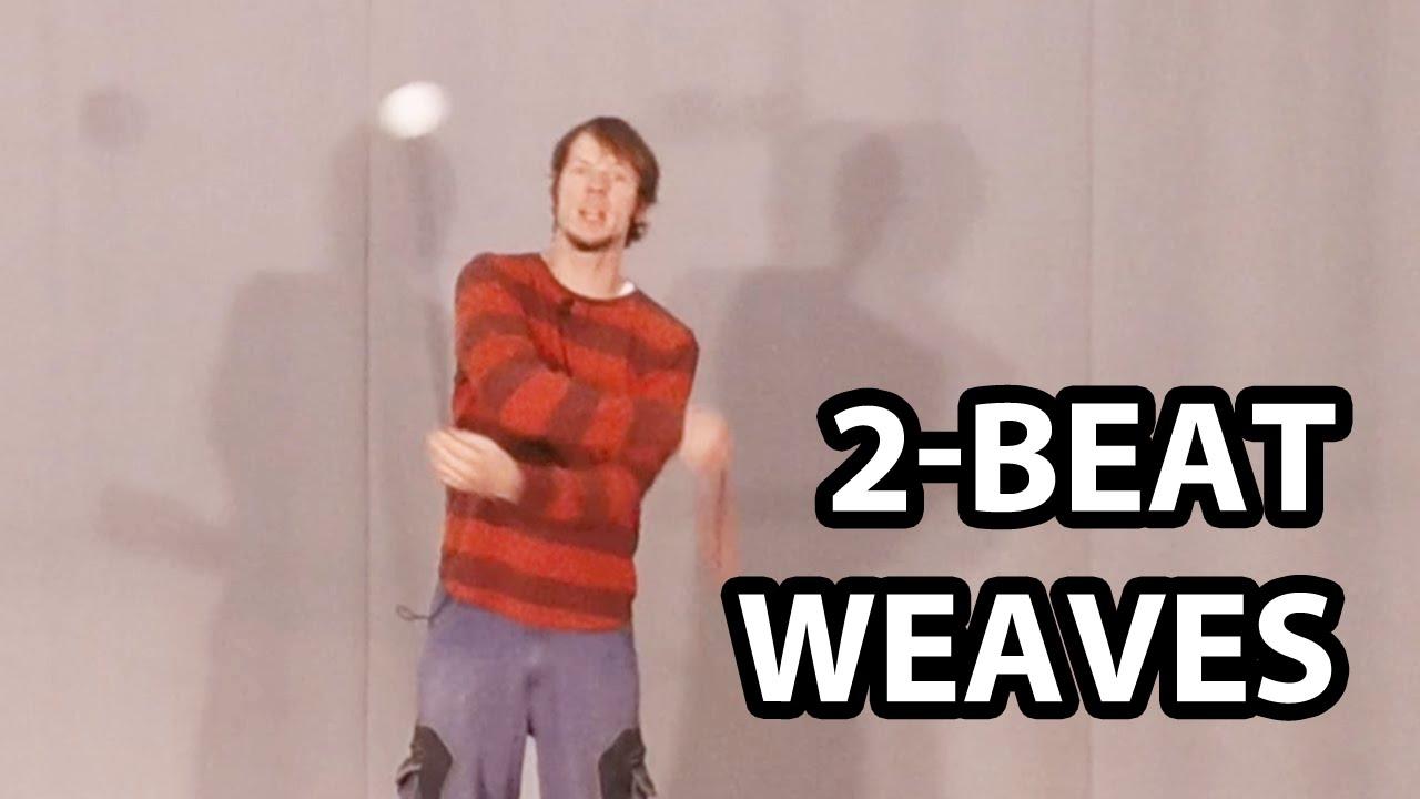 Poi 2-beat weaves tutorials