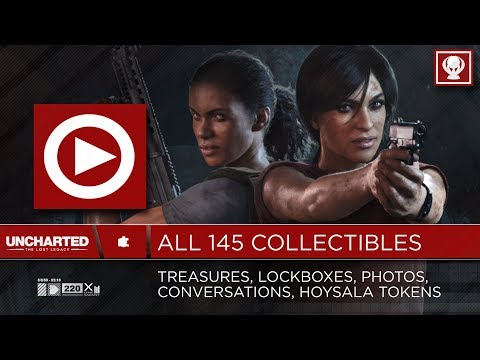 All 145 Collectibles - Treasures, Boxes, Photos, Conversations, Tokens / Uncharted The Lost Legacy