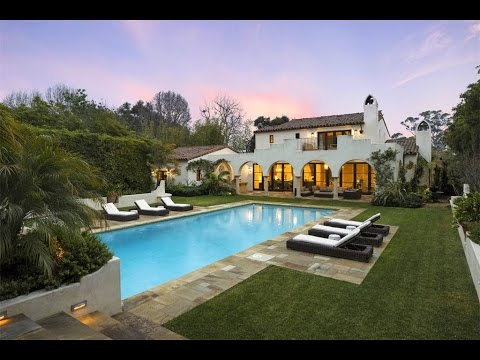 Hedgerows Spanish Colonial Style Home In Montecito California Youtube