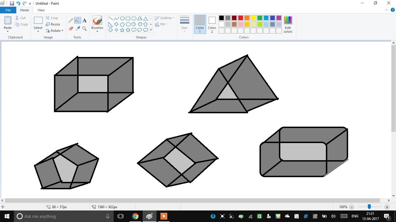 easyily draw 3d diagram in paint - How To Draw 3d Diagrams
