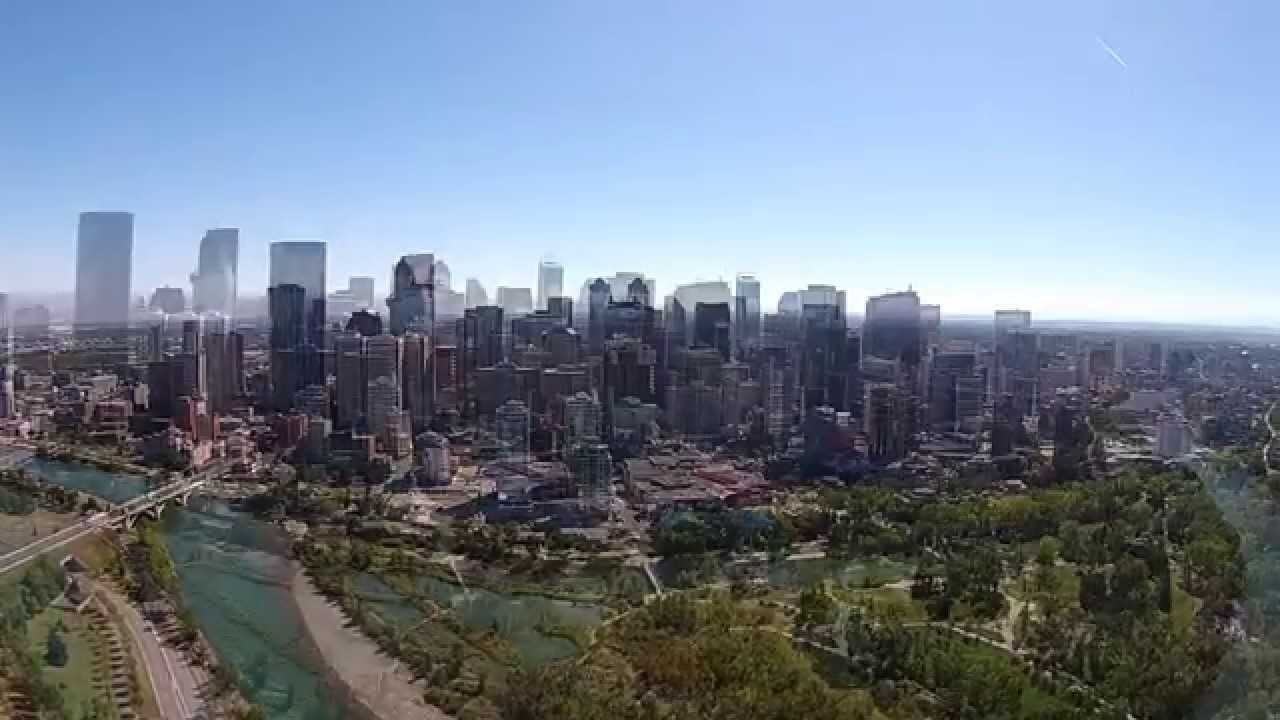 Calgary Downtown The Drone Eyes Youtube
