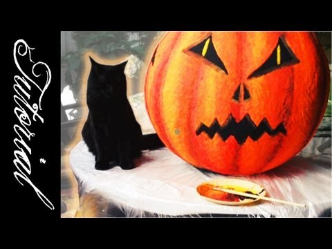 Pumpkin Head Tutorial [31 Days of Halloween]
