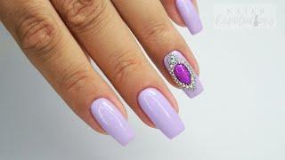Jeweled violet nails art Tutorial / Stardoro #jewelednails