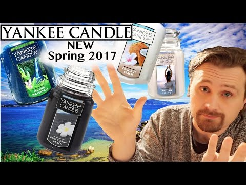 Yankee Candle 4 NEW Fragrances 2017 SUMMER SPRING | Candle Review HAUL  |  Mediterranean Collection