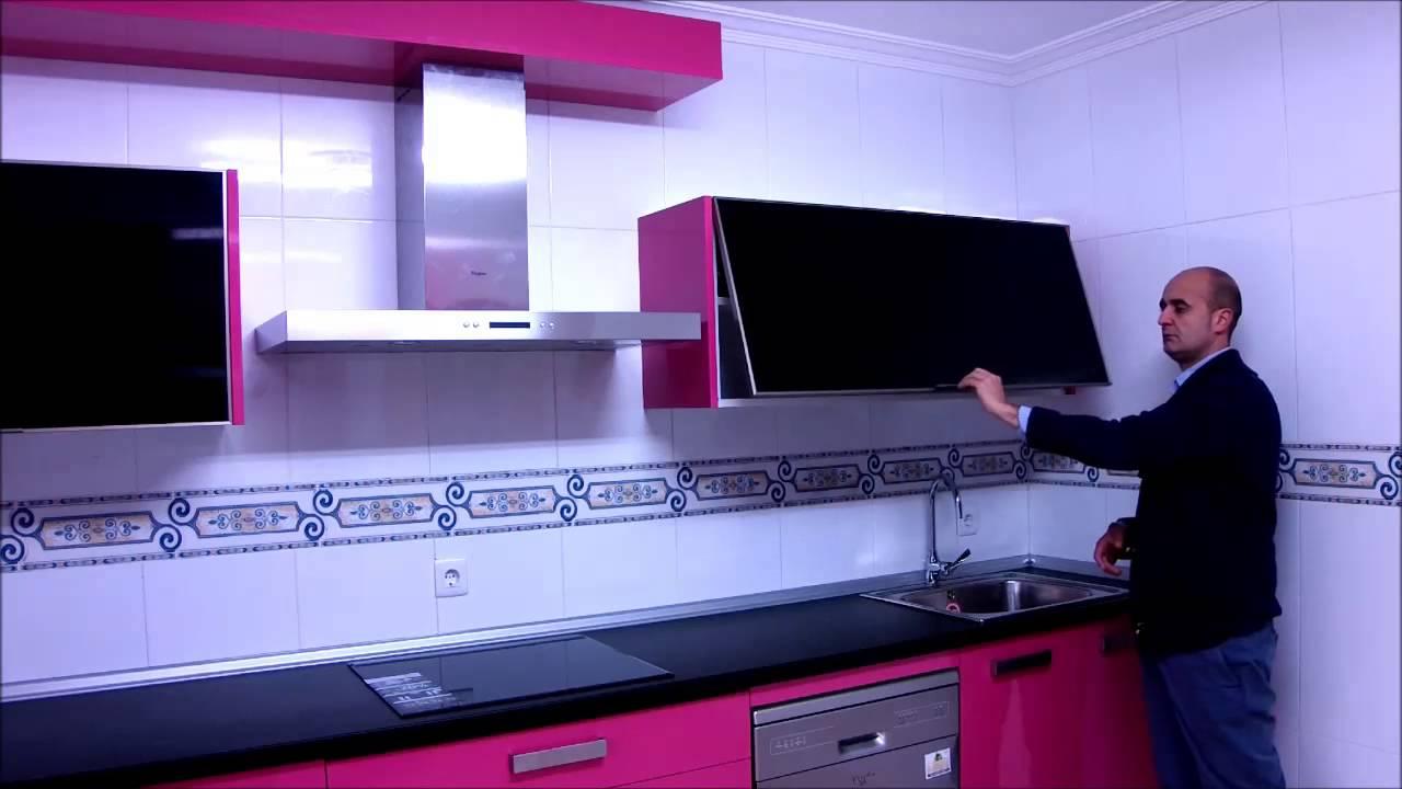 video muebles de cocina modernas con fucsia - YouTube