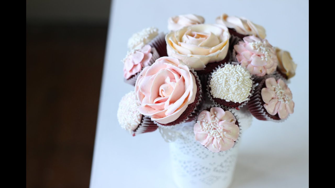 Cupcake bouquet tutorial youtube youtube premium izmirmasajfo