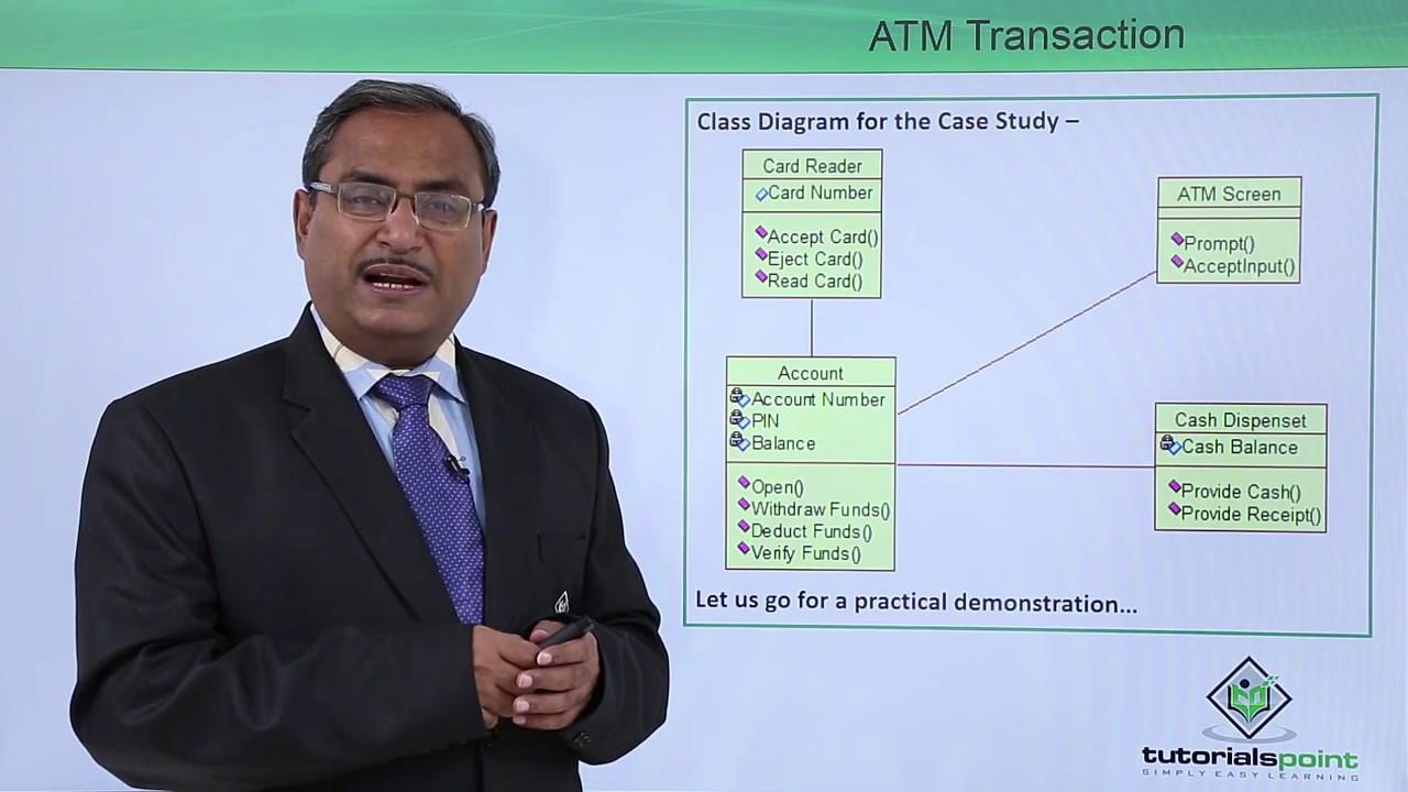hight resolution of uml atm transaction class diagram