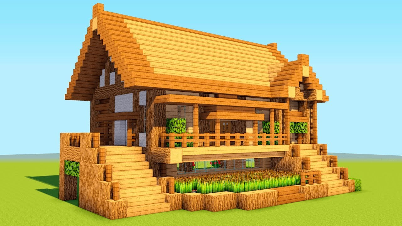 How To Build A Wooden Shelter Survival House Tutorial 2018 Minecraftvideos Tv