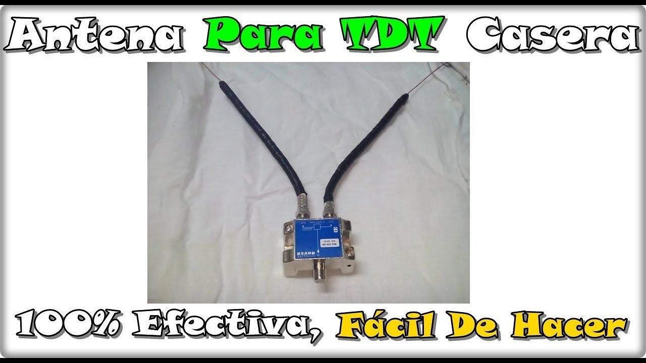 Antena tdt casera c mo construirla 100 funcional y for Antena de interior para tdt
