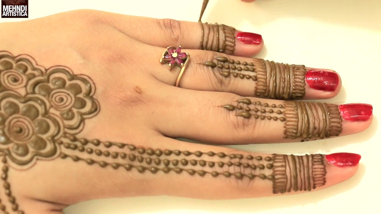 Floral Mehndi Designs For Upper Side Beautiful Easy Simple Stylish