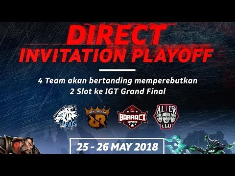 Indonesia Game Tour - Dota 2 Invitation Playoffs - PG Barracx vs EVOS