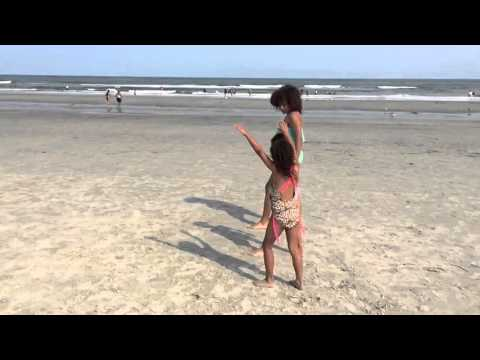 Leila Beale - cartwheels in the sand summer 2015.