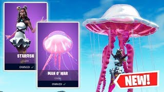 NEW STARFISH Skin and MAN O' WAR Glider Gameplay in Fortnite!
