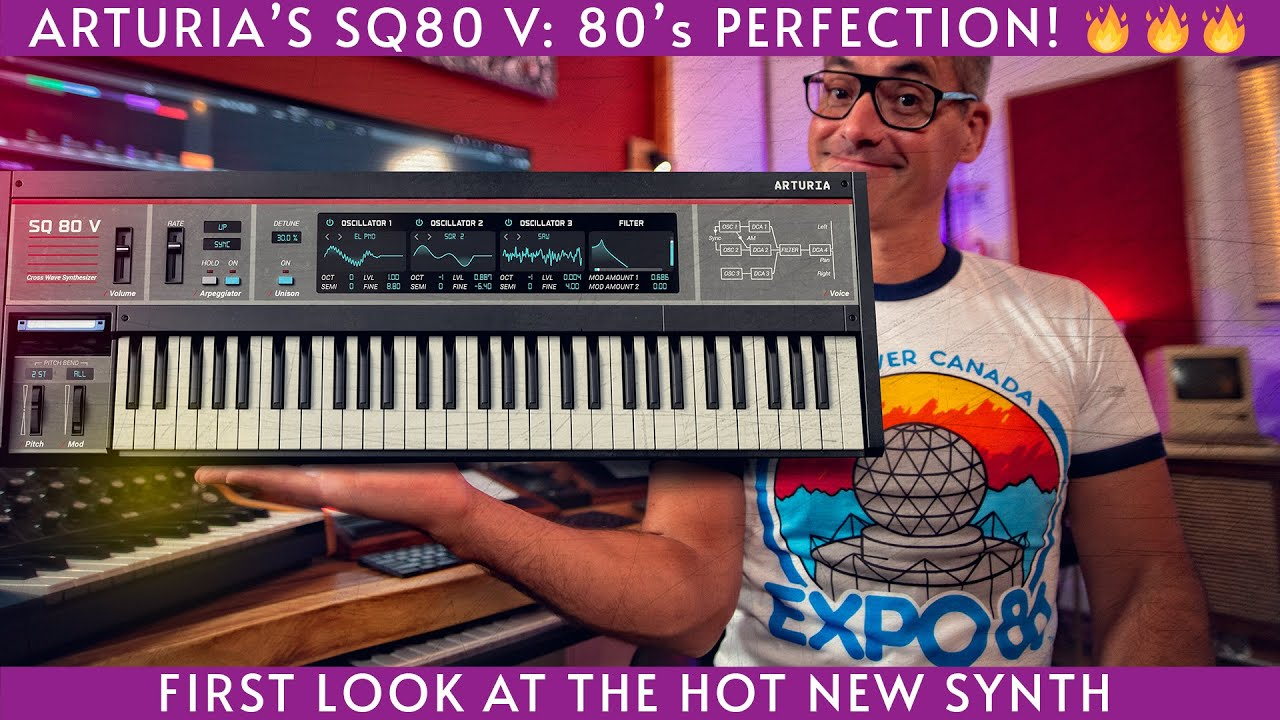 Download Arturia's new SQ 80 V! Sweet 80's synth emulation.