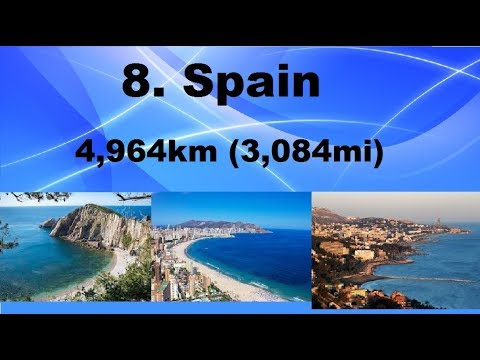 Top 10 European countries with the longest coastlines