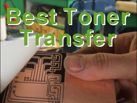 DIY New PCB Toner Transfer -- NO Soaking, Just peel off backing