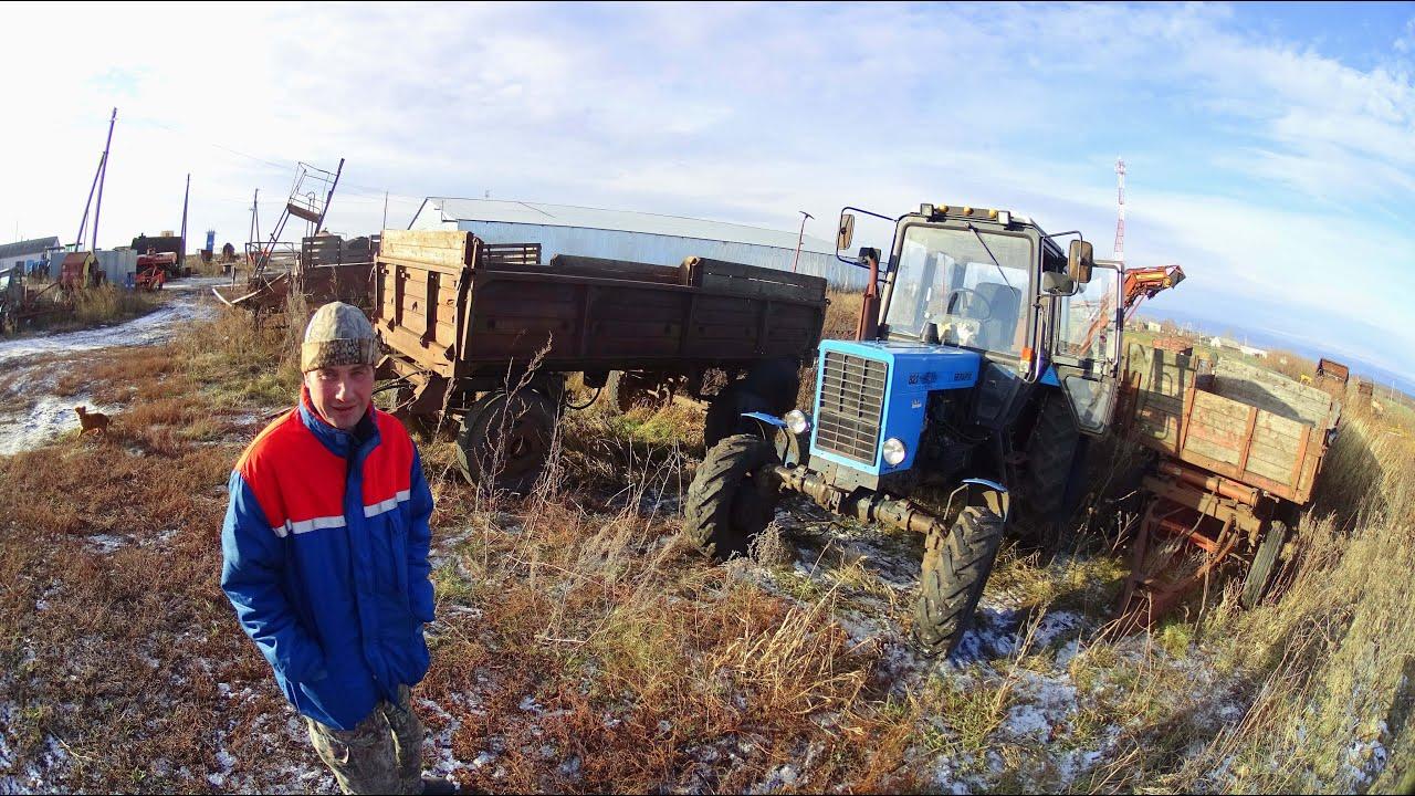 фото тракторов с телегой