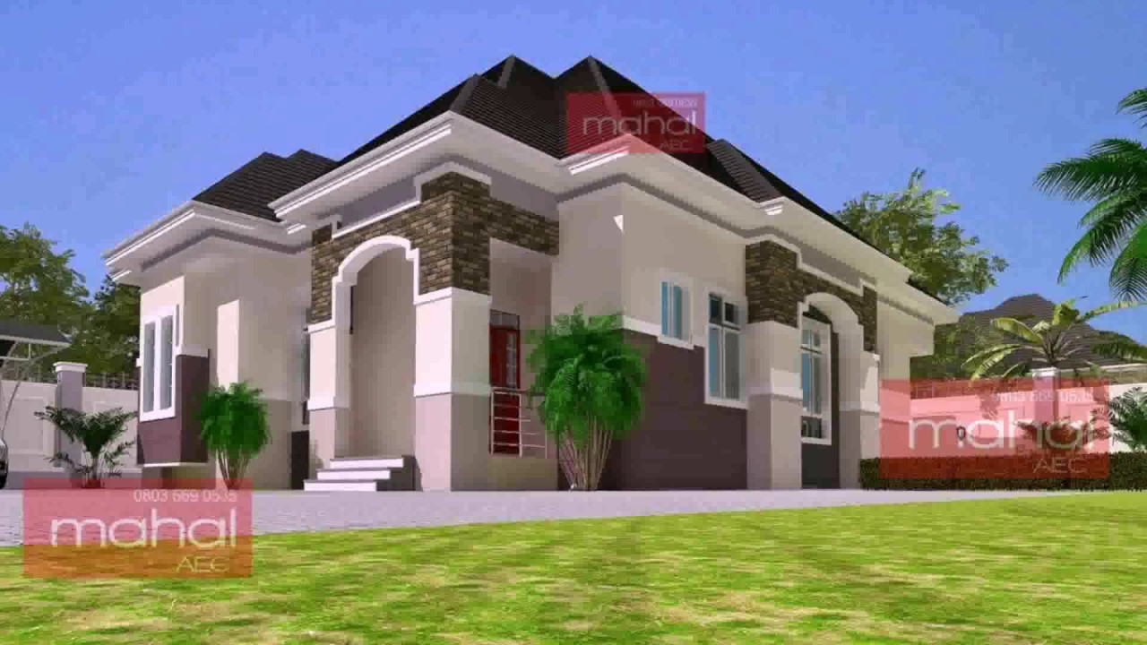 4 bedroom bungalow house design in nigeria youtube for 4 bedroom bungalow house designs