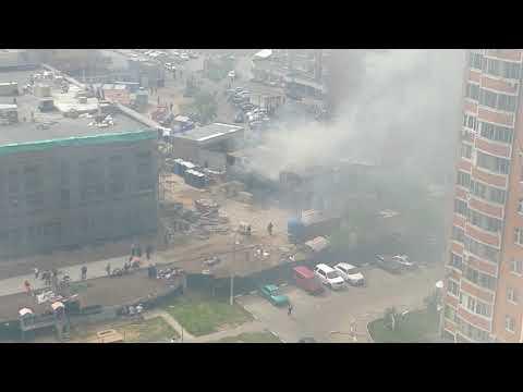 Возгорание жилых помещений строителей в микрорайоне 1 мая, Балашиха.