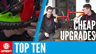 Top Ten Cheap Or Free MTB Upgrades(We all love treating our bikes to some shiny new parts, but they rarely come cheap! Scott and Neil show you some secrets! Subscribe to GMBN: ..., 2016-02-02T18:00:01.000Z)