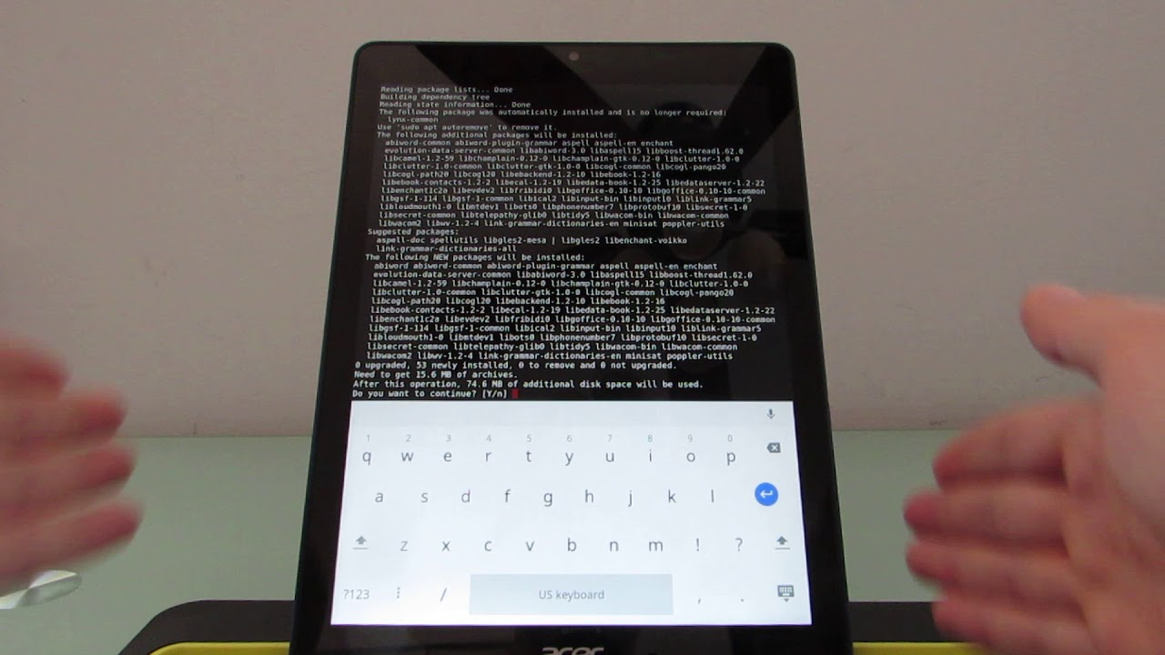 Linux apps on the Acer Chromebook Tab 10
