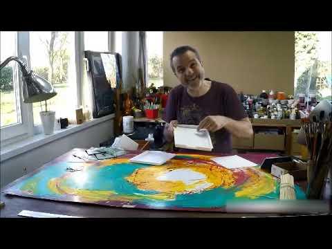 test et pr sentation de mat riel de peinture acrylique la palette humide youtube. Black Bedroom Furniture Sets. Home Design Ideas