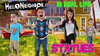 Hello Neighbor In Real Life Statues! FUNhouse Family