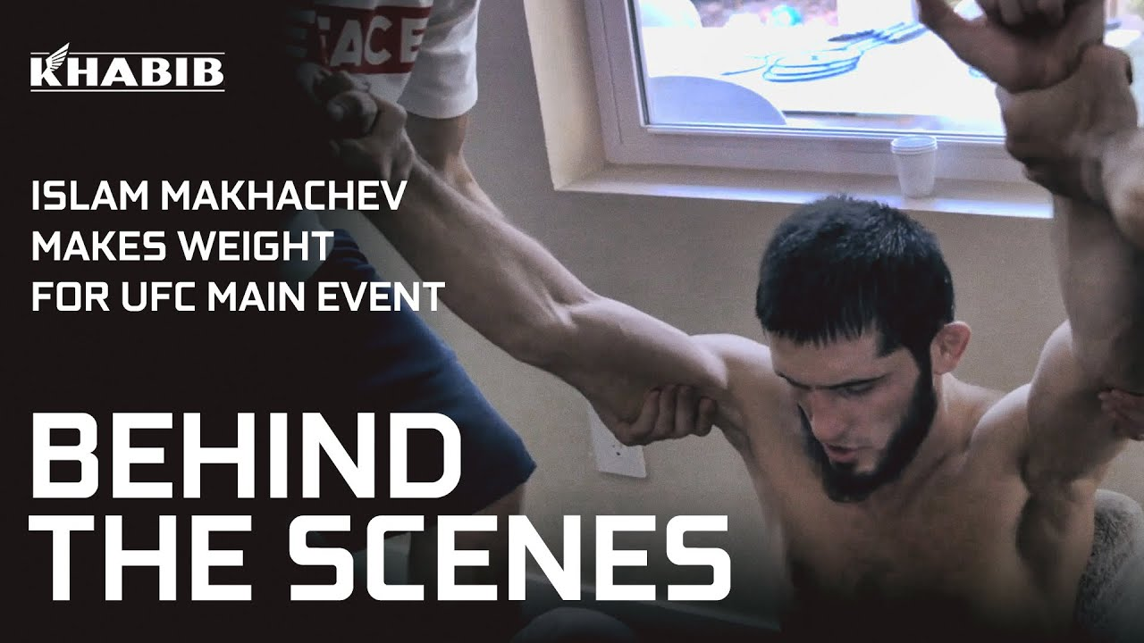Islam Makhachev's Weight Cut for UFC Main Event [BEHIND THE SCENES]