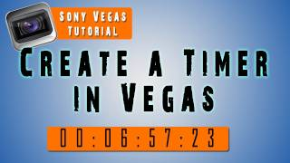 Sony Vegas Tutorial | Add a TIMER to your video, How to Pause it !
