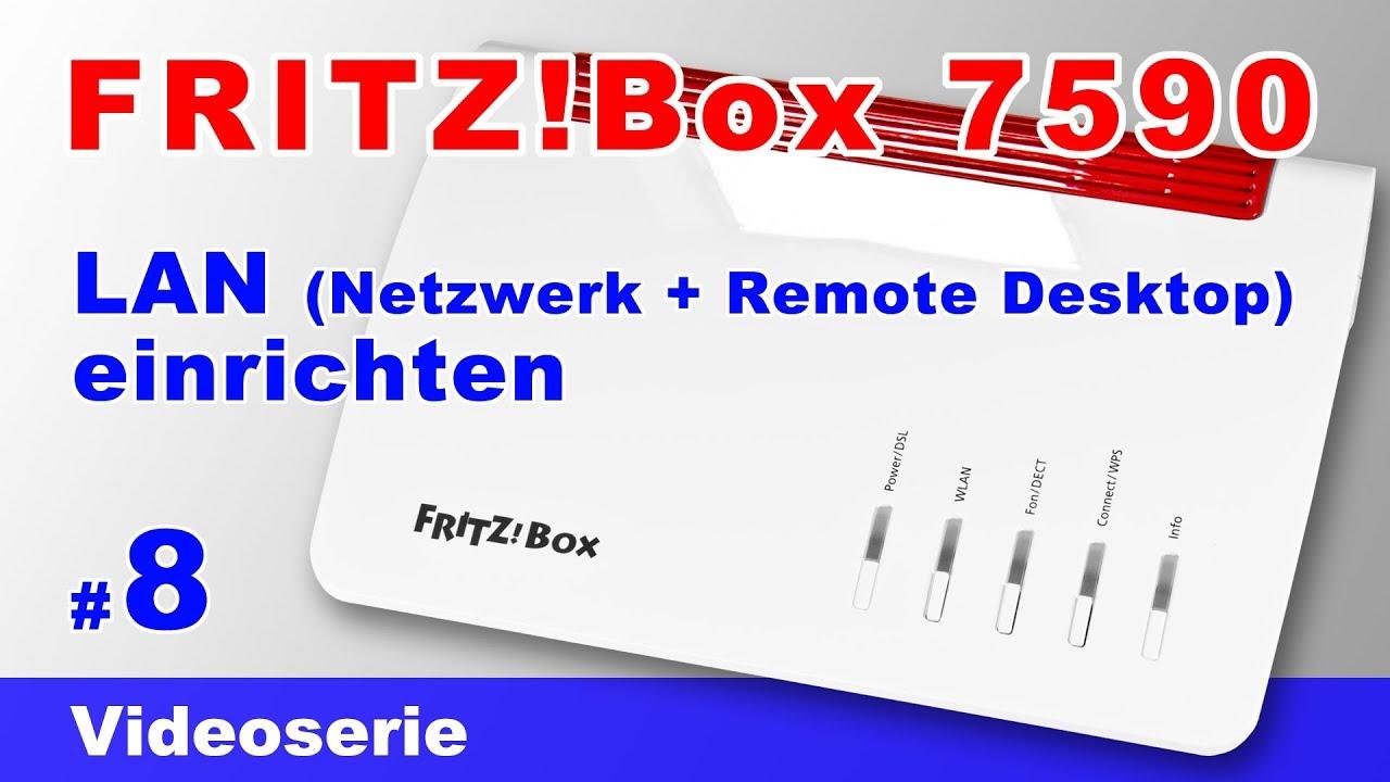 Fritz Box 7590 Lan Netzwerk Einrichten Ip Adresse Andern Und