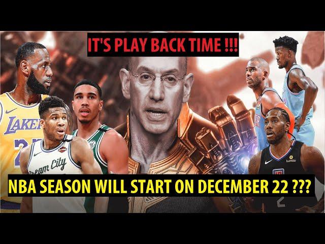 NBA Plans to Open Season on Dec 22,2020