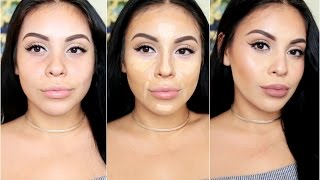 How To DRUGSTORE Contour & Highlight Using Affordable Makeup Brushes juicyyyyjas JuicyJas