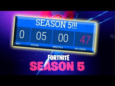 COUNTDOWN UNTIL SEASON 5!!! // Fortnite: Battle Royale Season 5