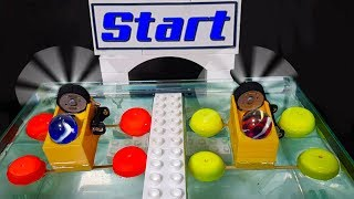 The Incredible Marble Race with water - with motorized boat and relay marbles