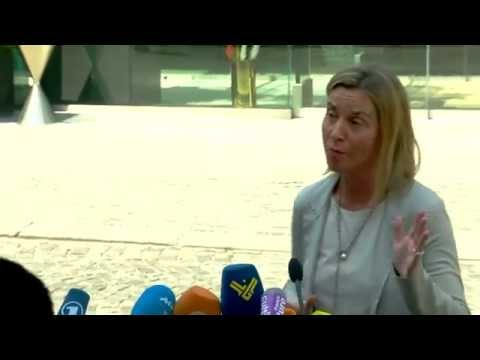 Doorstep by Federica MOGHERINI during the Iran Talks in Vienna