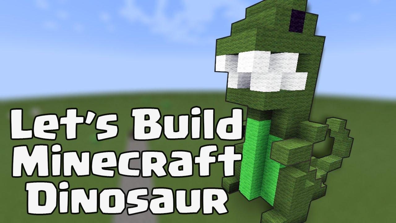 Let\'s Build a Minecraft Dinosaur - Building Idea - YouTube