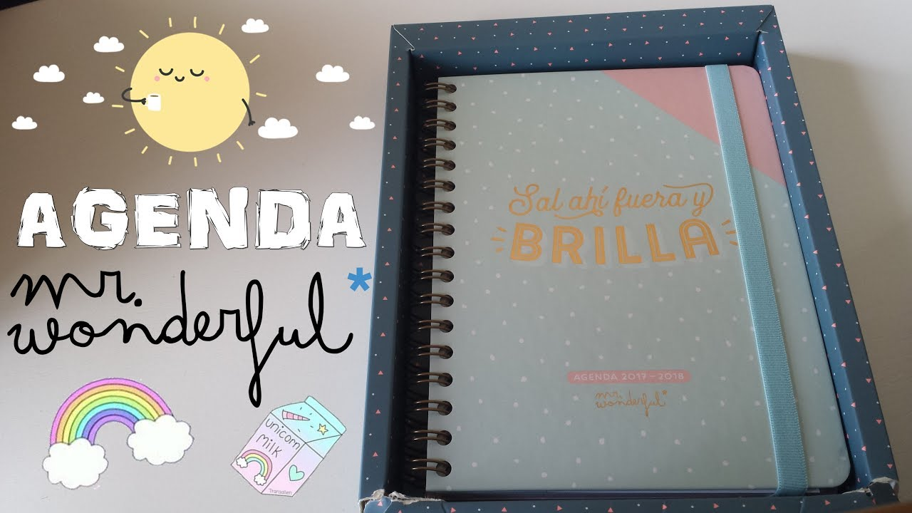 Review nueva agenda mr wonderful 2017 2018 pros y - Mr wonderful agenda 2017 ...
