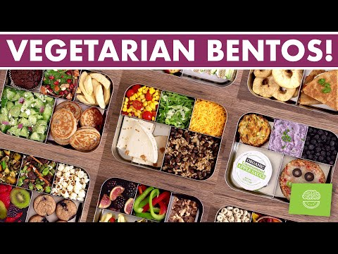 VEGETARIAN Bento Box Lunches - Compilation Video!