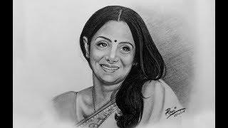 Sridevi drawing
