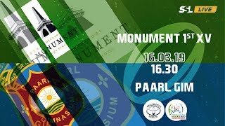 Monument 1st XV vs Paarl Gim 1st XV - Noord Suid Rugby Toernooi