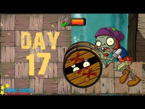 Plants Vs Zombies 2 - Pirate Seas - Day 17 [Barrel Roller Zombie] No Premium