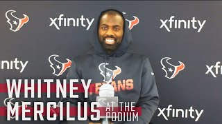 Whitney Mercilus Discusses his 2020 Offseason | Press Conference